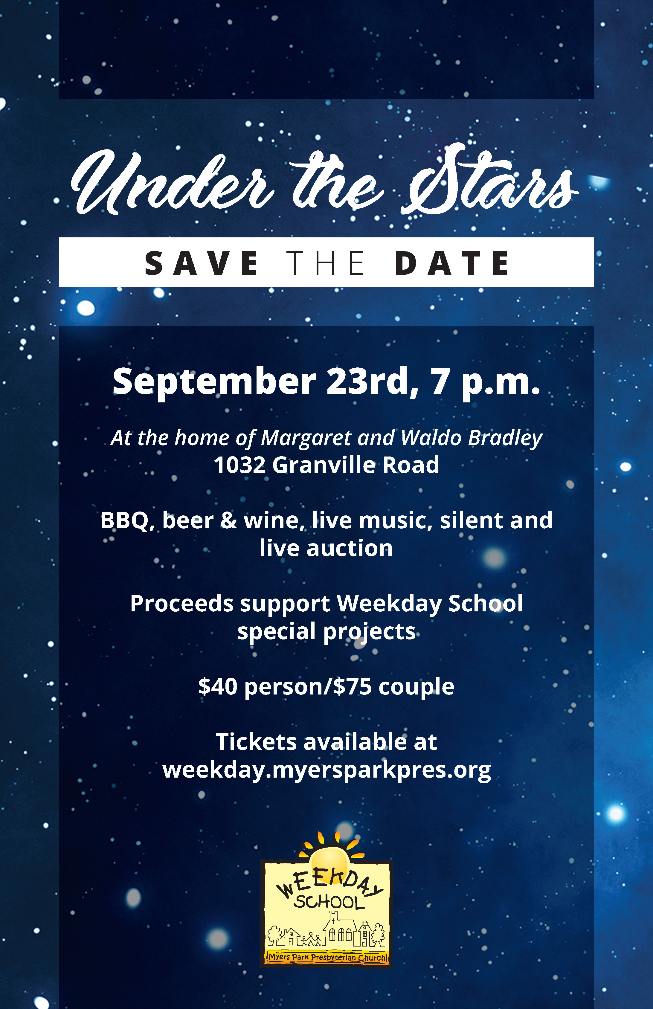 Members Responsive Portal - Weekday School Under the Stars Event 2017